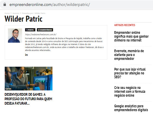 portfolio redator empreender online