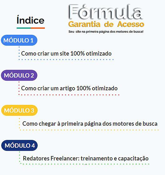 modulos curso formula garantia de acesso
